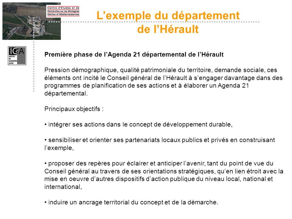 L'exemple du département