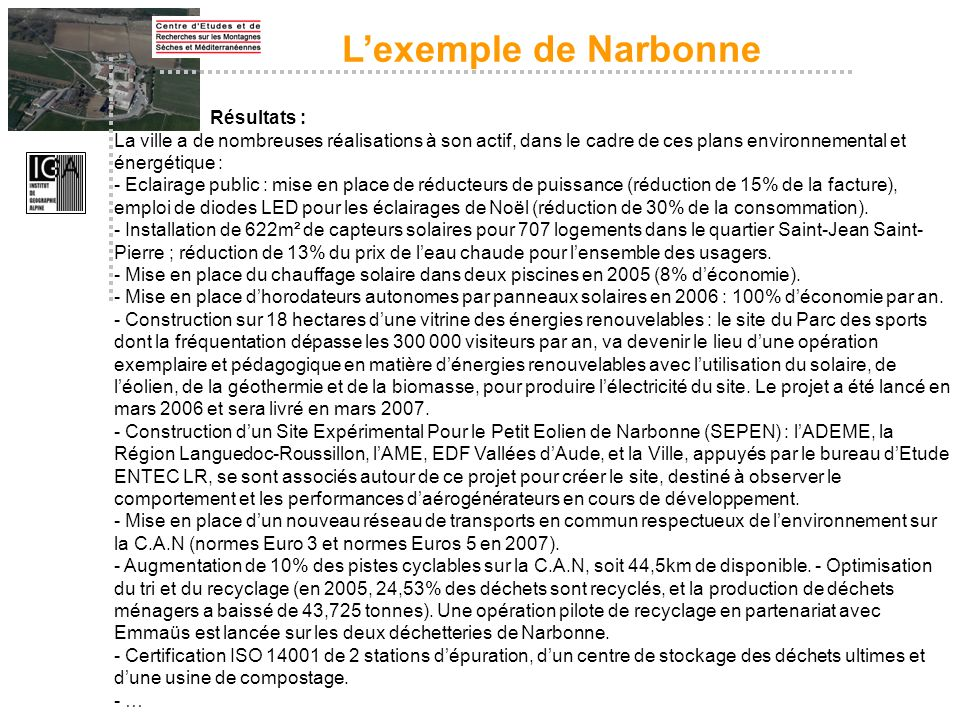 L'exemple de Narbonne