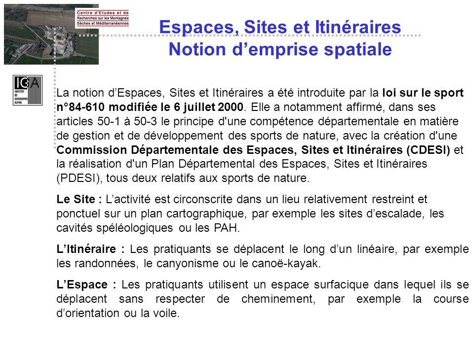 Espaces, Sites et Itinéraires