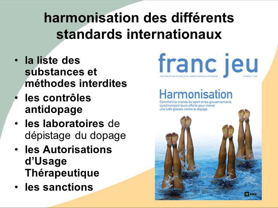 harmonisation des différents standards internationaux