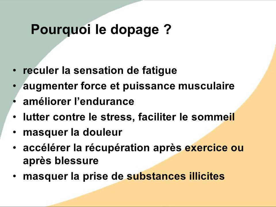 Pourquoi le dopage reculer la sensation de fatigue