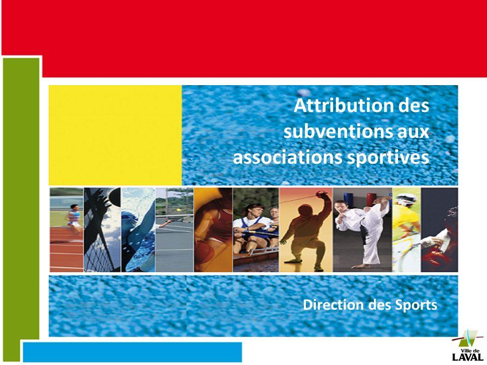 Attribution des subventions aux associations sportives