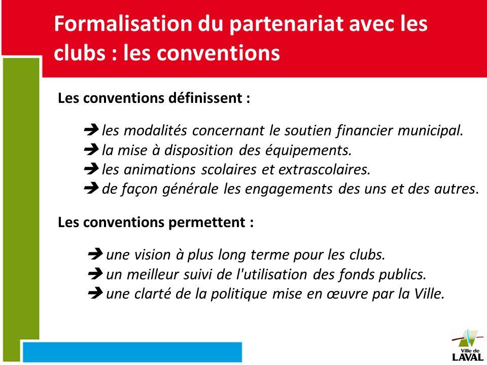 Formalisation du partenariat avec les clubs : les conventions