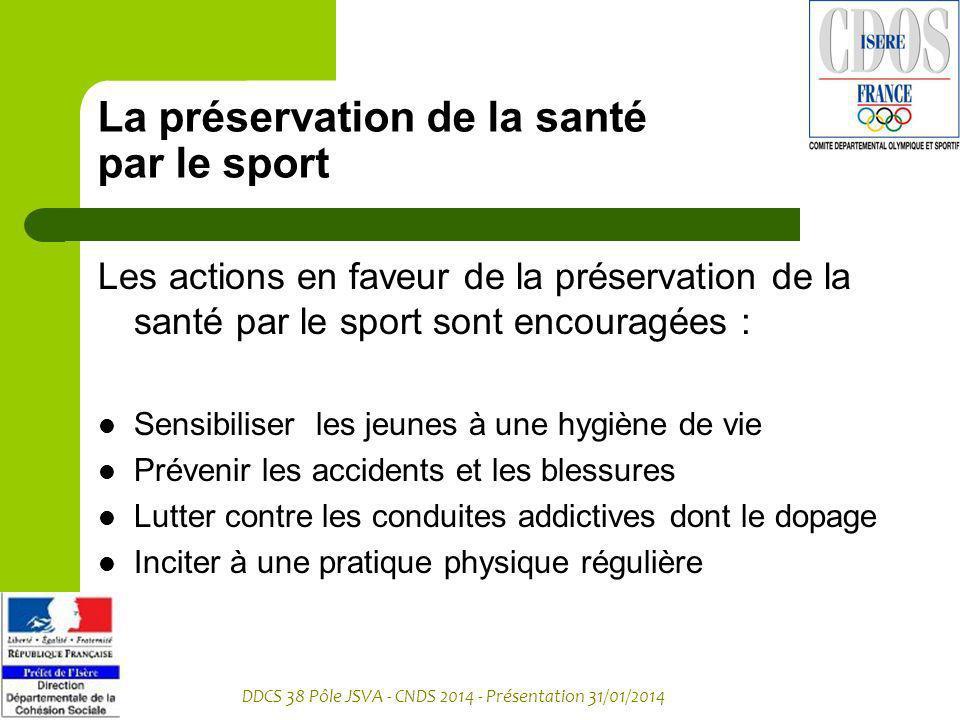 La préservation de la santé par le sport