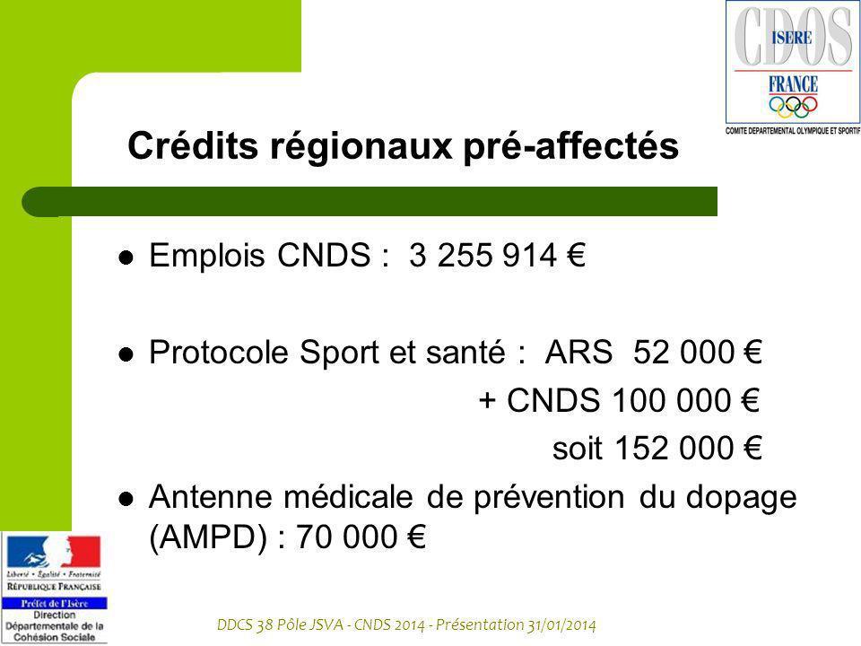 Crédits régionaux pré-affectés