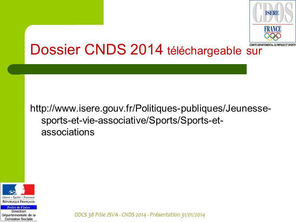Dossier CNDS 2014 téléchargeable sur