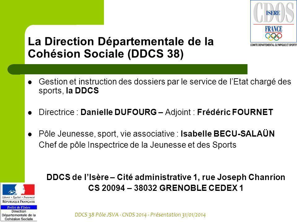 La Direction Départementale de la Cohésion Sociale (DDCS 38)
