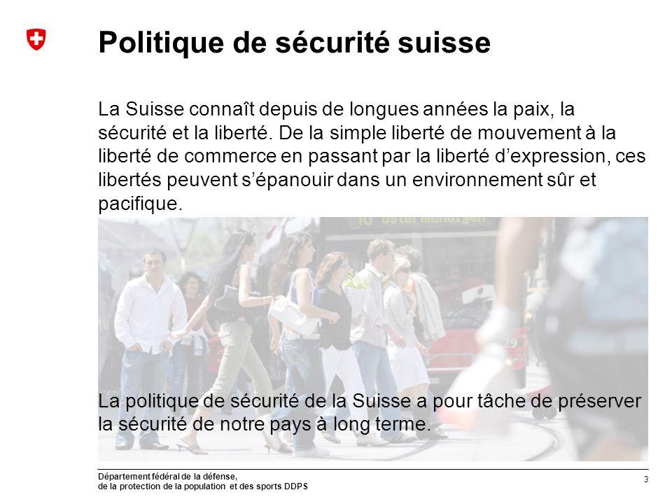 Politique de sécurité suisse