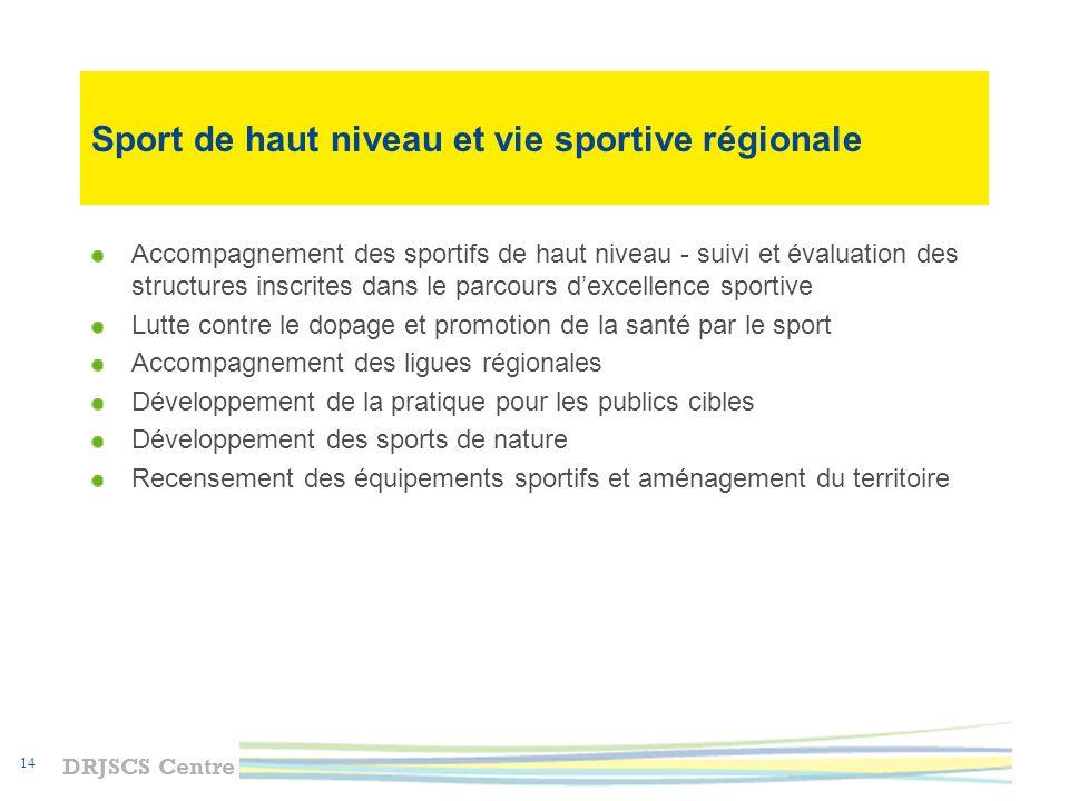 Sport de haut niveau et vie sportive régionale
