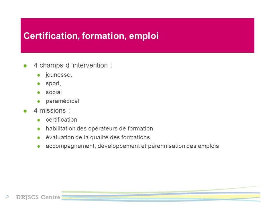 Certification, formation, emploi