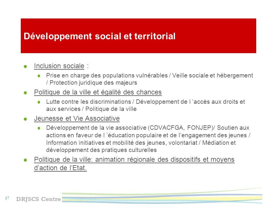 Développement social et territorial