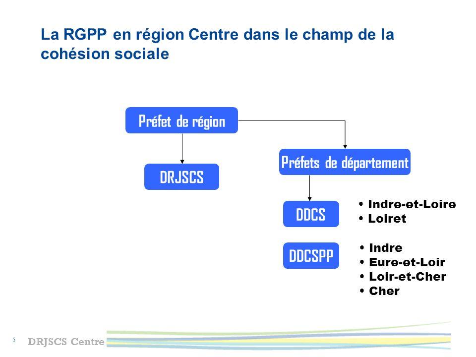 La RGPP en région Centre dans le champ de la cohésion sociale