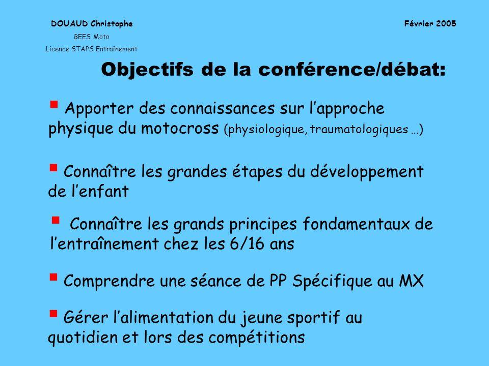 Objectifs de la conférence/débat: