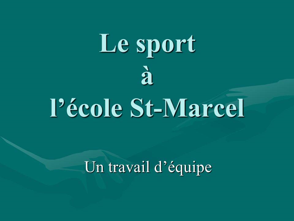Le sport à l'école St-Marcel