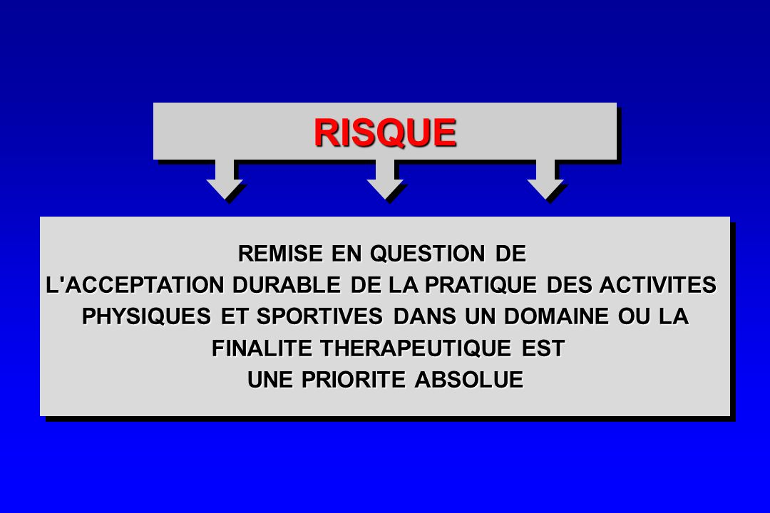 RISQUE REMISE EN QUESTION DE