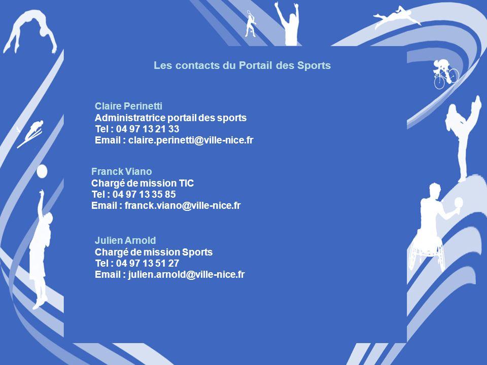 Les contacts du Portail des Sports