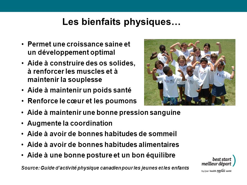 Les bienfaits physiques…
