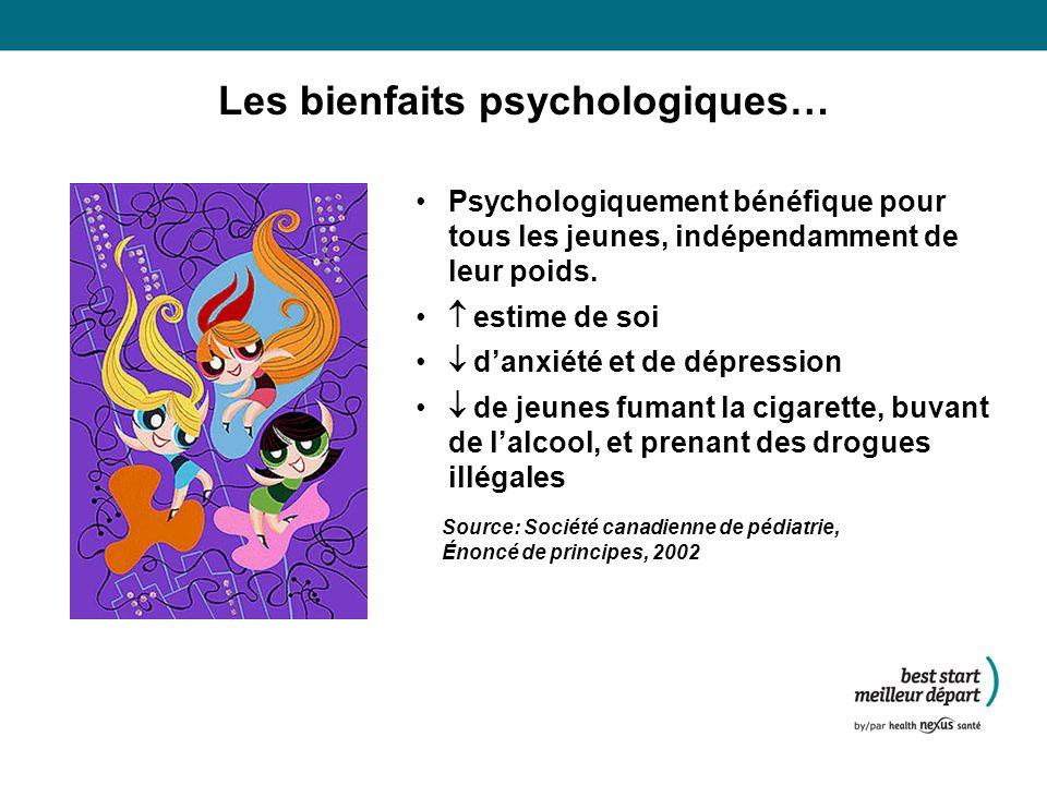 Les bienfaits psychologiques…