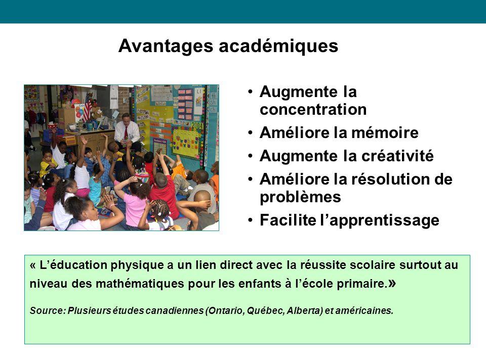 Avantages académiques