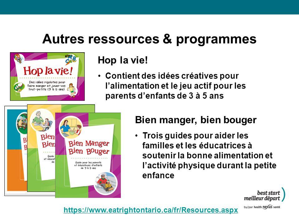 Autres ressources & programmes