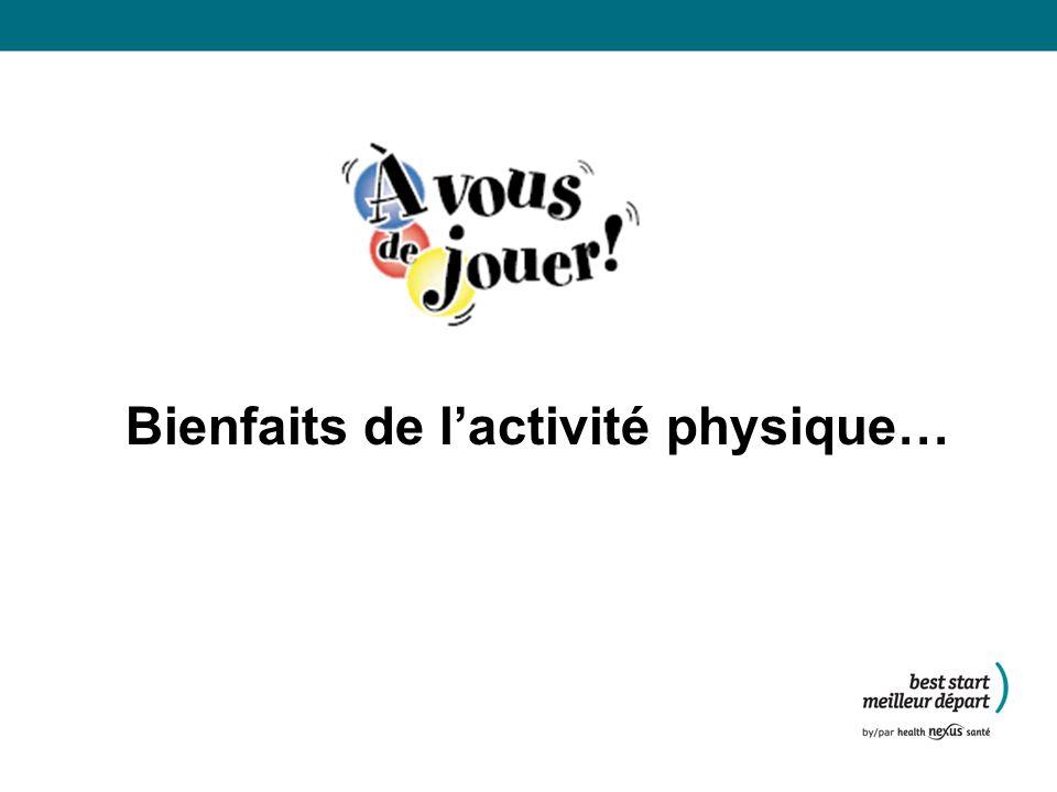 Bienfaits de l'activité physique…