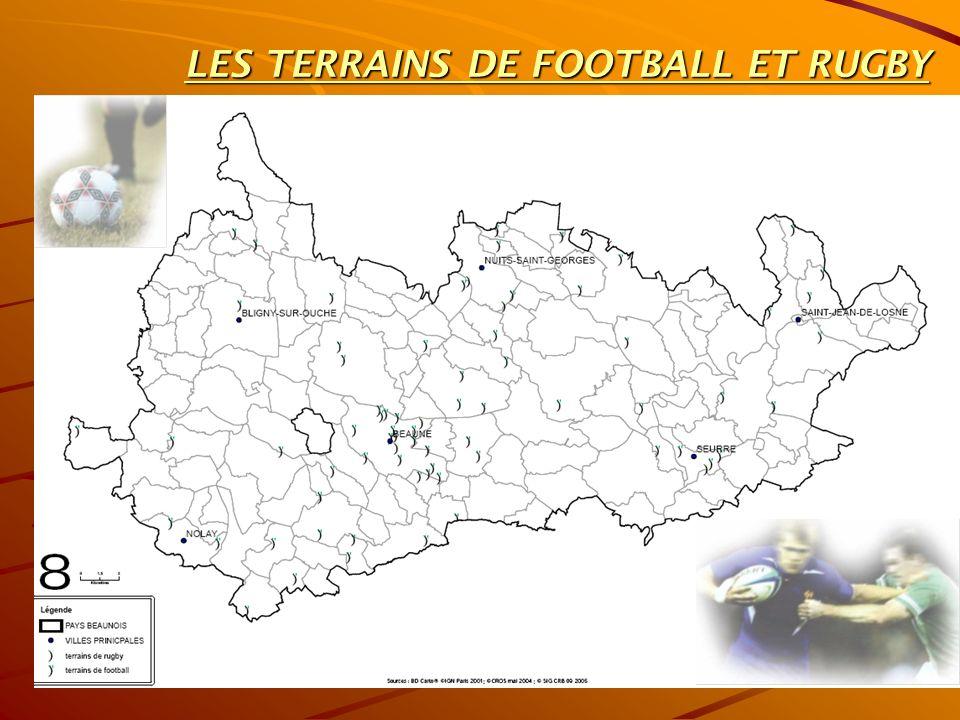 LES TERRAINS DE FOOTBALL ET RUGBY