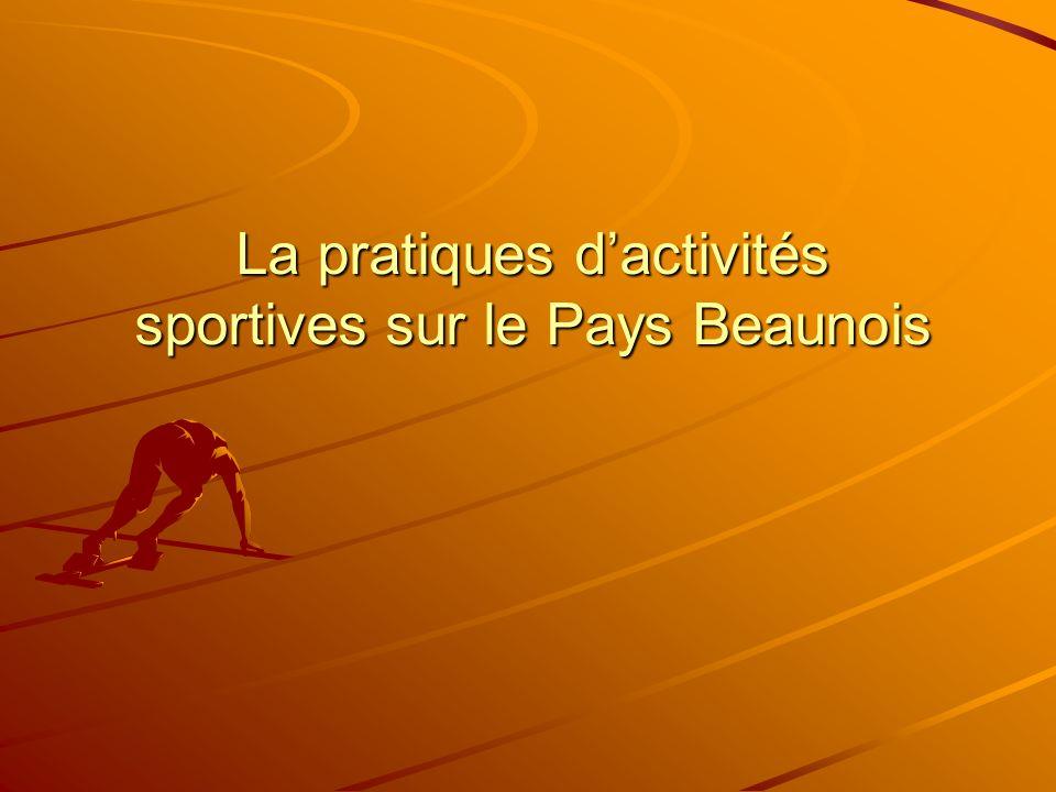 La pratiques d'activités sportives sur le Pays Beaunois
