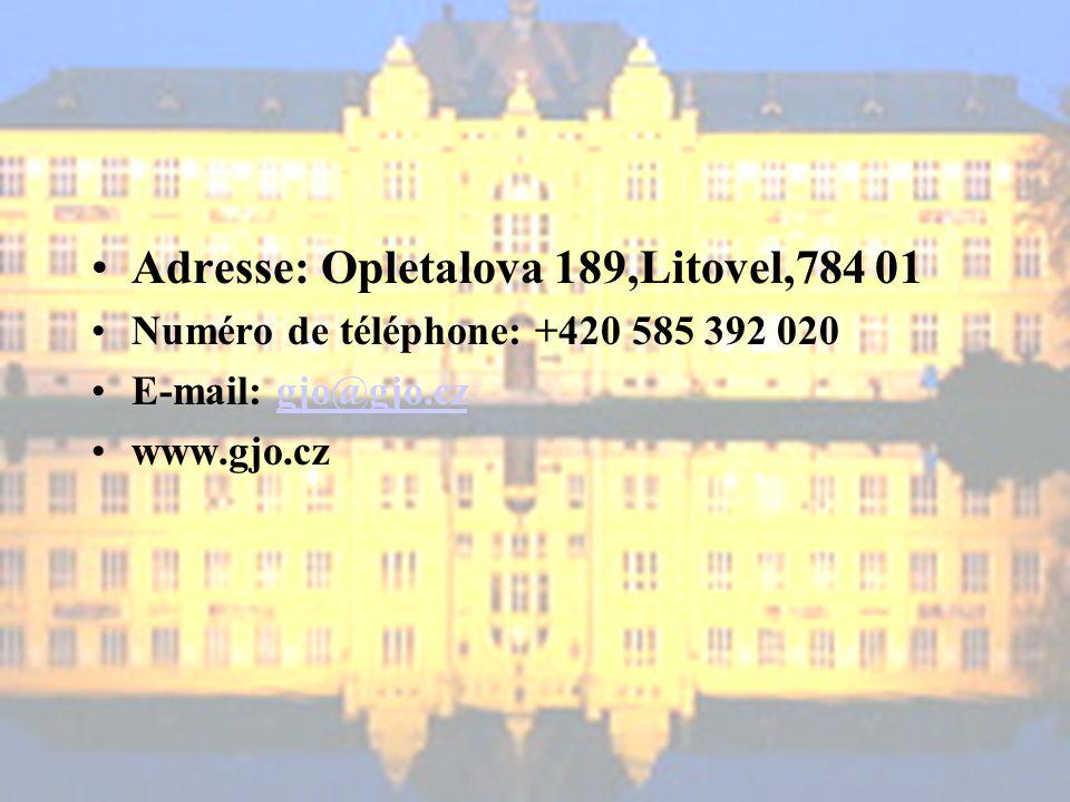 Adresse: Opletalova 189,Litovel,784 01