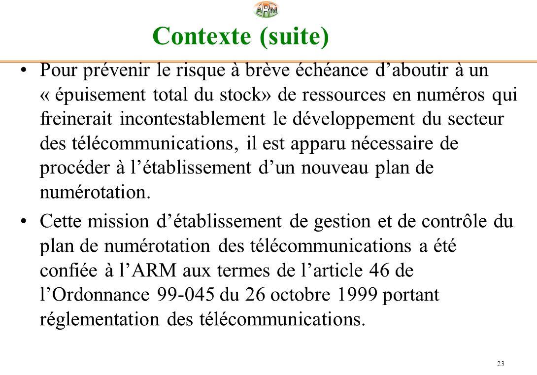 Contexte (suite)