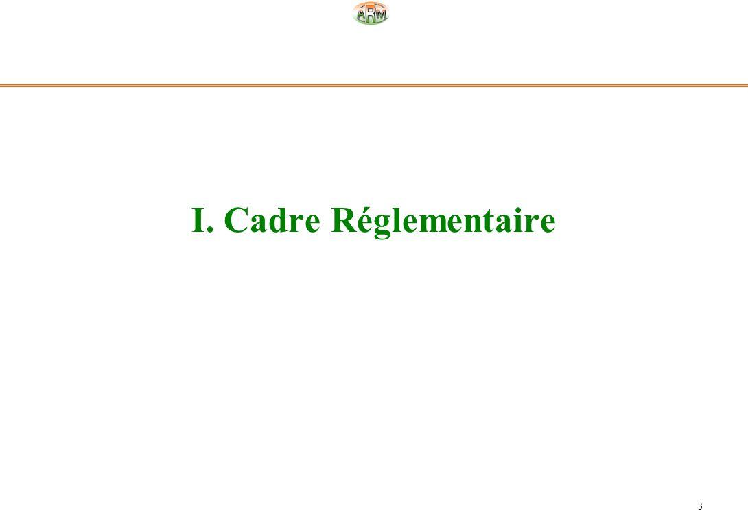 I. Cadre Réglementaire