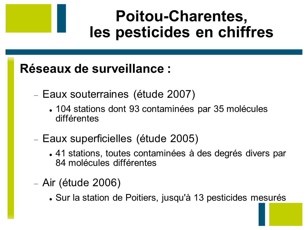 Poitou-Charentes, les pesticides en chiffres
