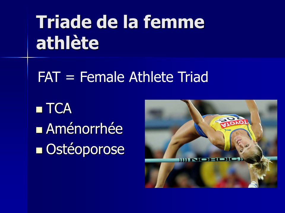 Triade de la femme athlète