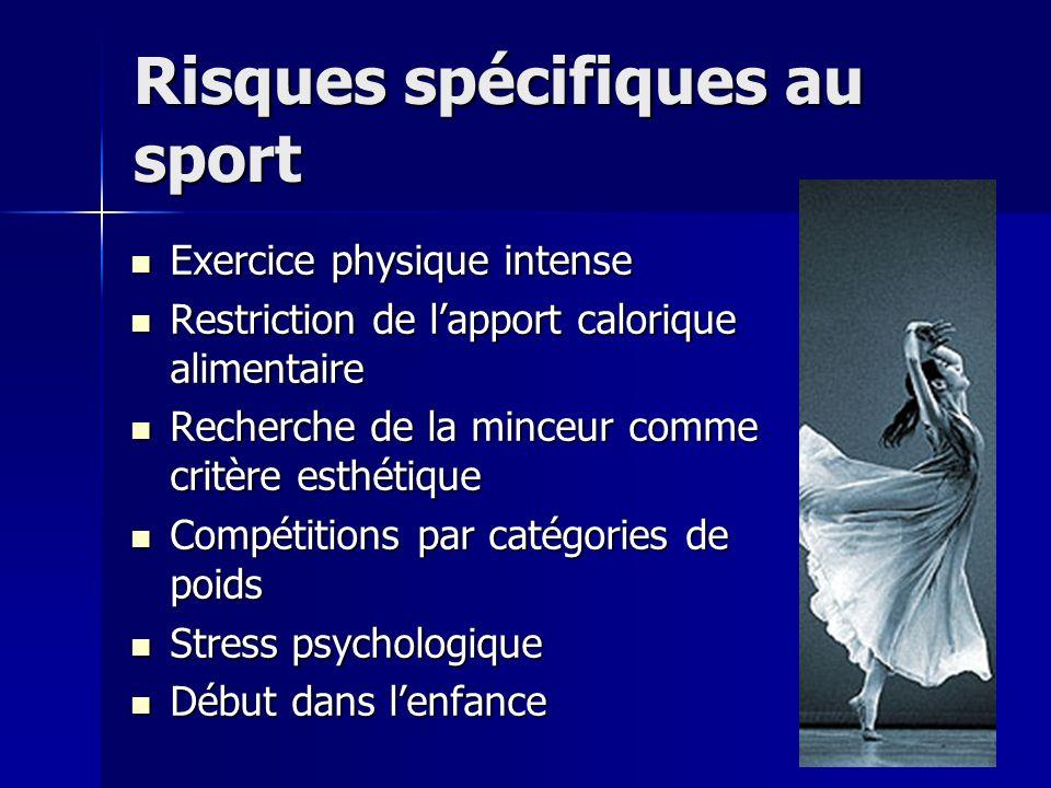 Risques spécifiques au sport