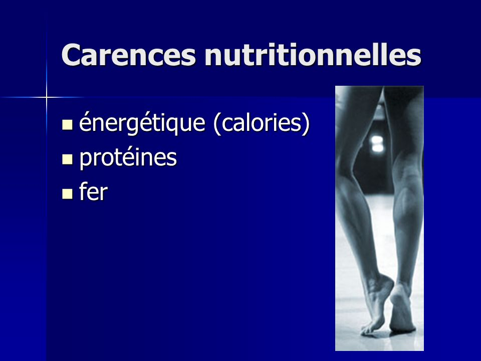 Carences nutritionnelles