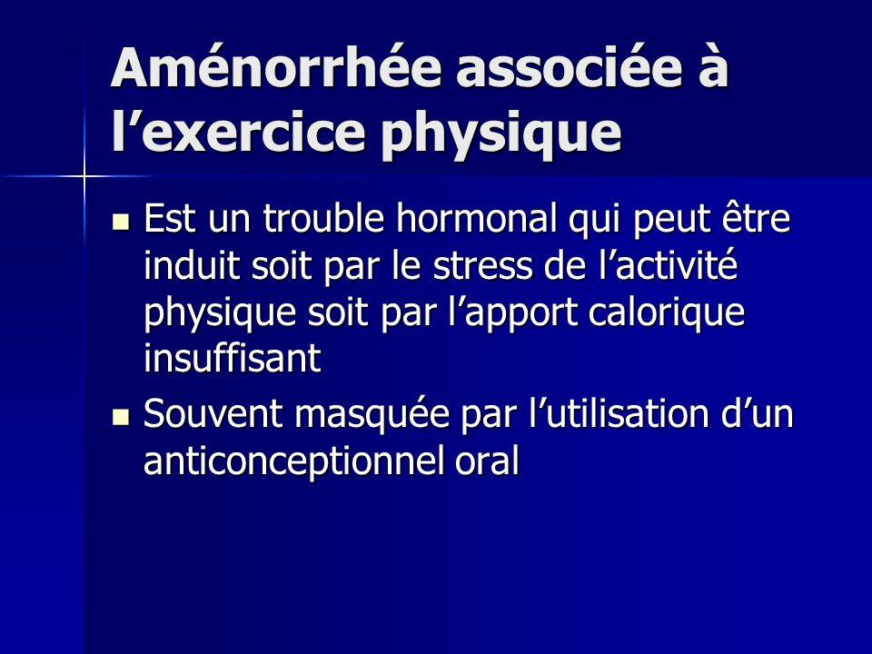 Aménorrhée associée à l'exercice physique