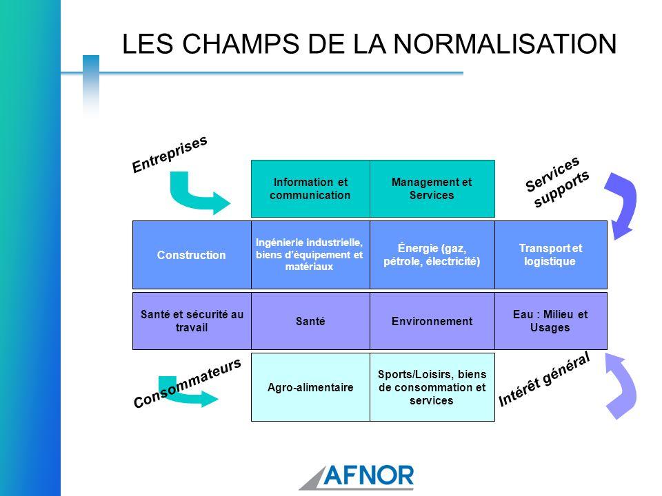 LES CHAMPS DE LA NORMALISATION