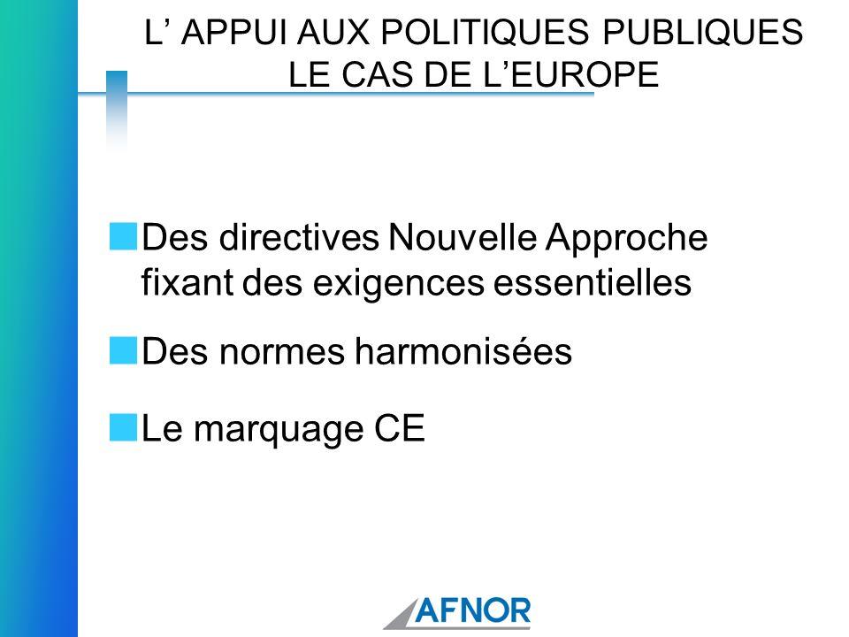 L' APPUI AUX POLITIQUES PUBLIQUES LE CAS DE L'EUROPE