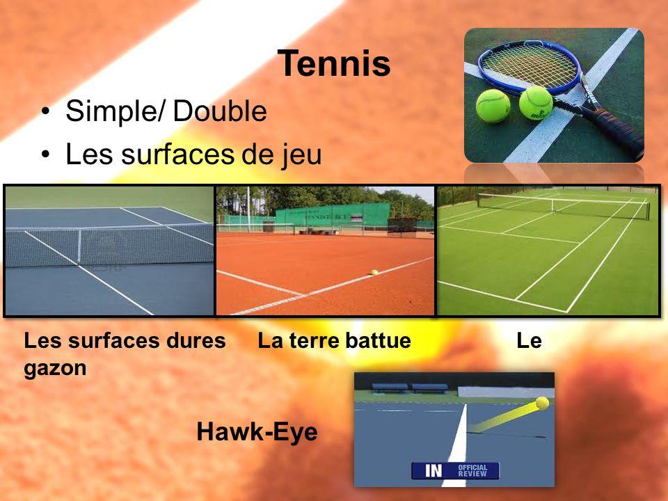 Tennis Simple/ Double Les surfaces de jeu Hawk-Eye