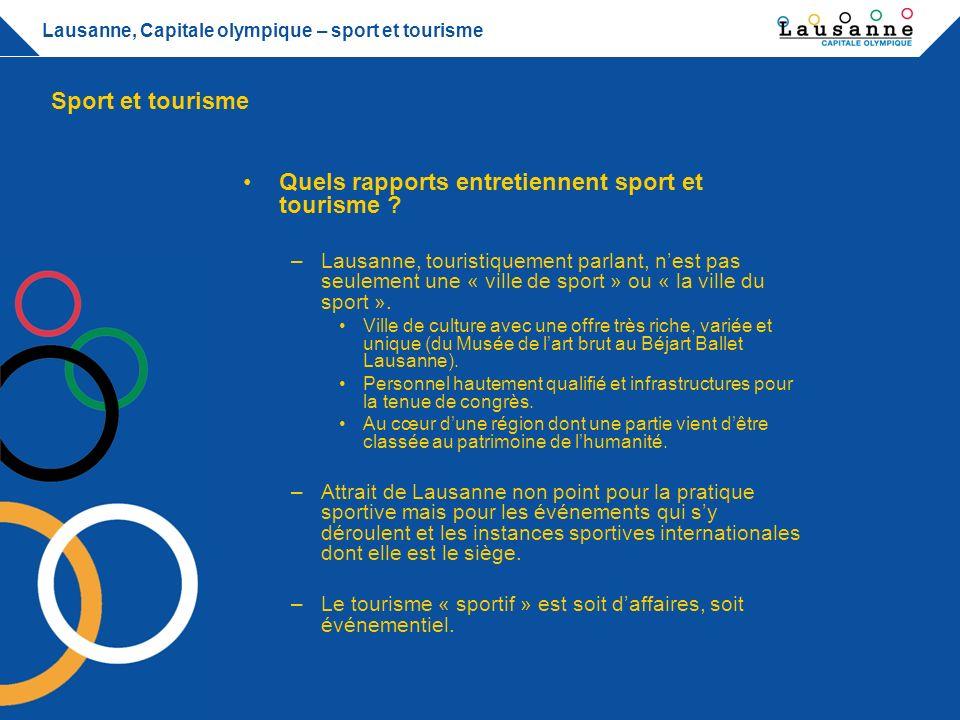 Quels rapports entretiennent sport et tourisme