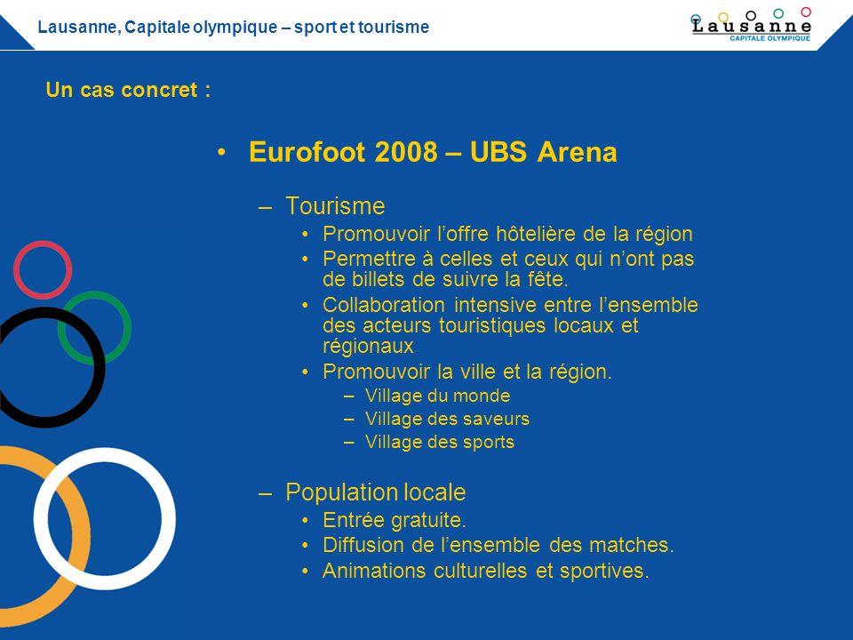 Eurofoot 2008 – UBS Arena Tourisme Population locale Un cas concret :