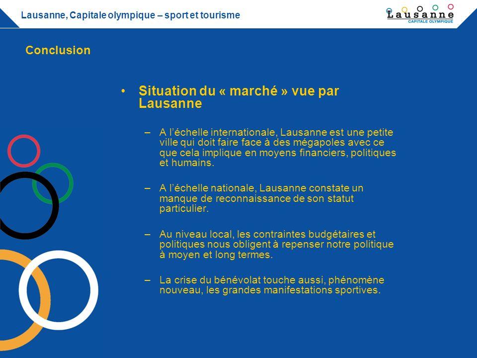 Situation du « marché » vue par Lausanne
