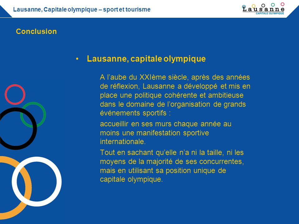 lausanne capitale olympique ppt t l charger. Black Bedroom Furniture Sets. Home Design Ideas
