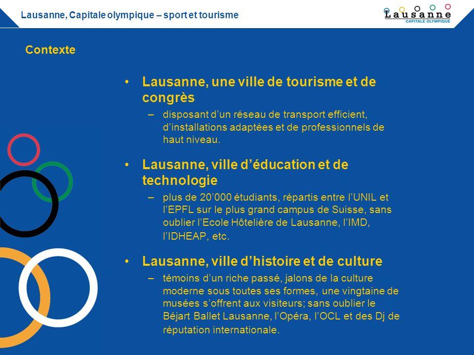 Lausanne, une ville de tourisme et de congrès