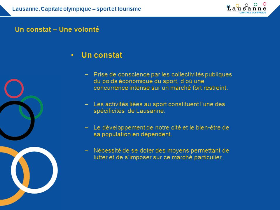 Lausanne capitale olympique ppt t l charger for Cite du sport terrebonne piscine