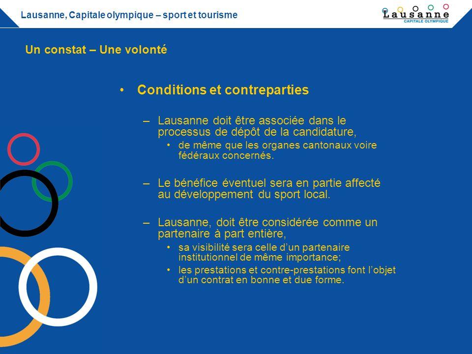 Conditions et contreparties