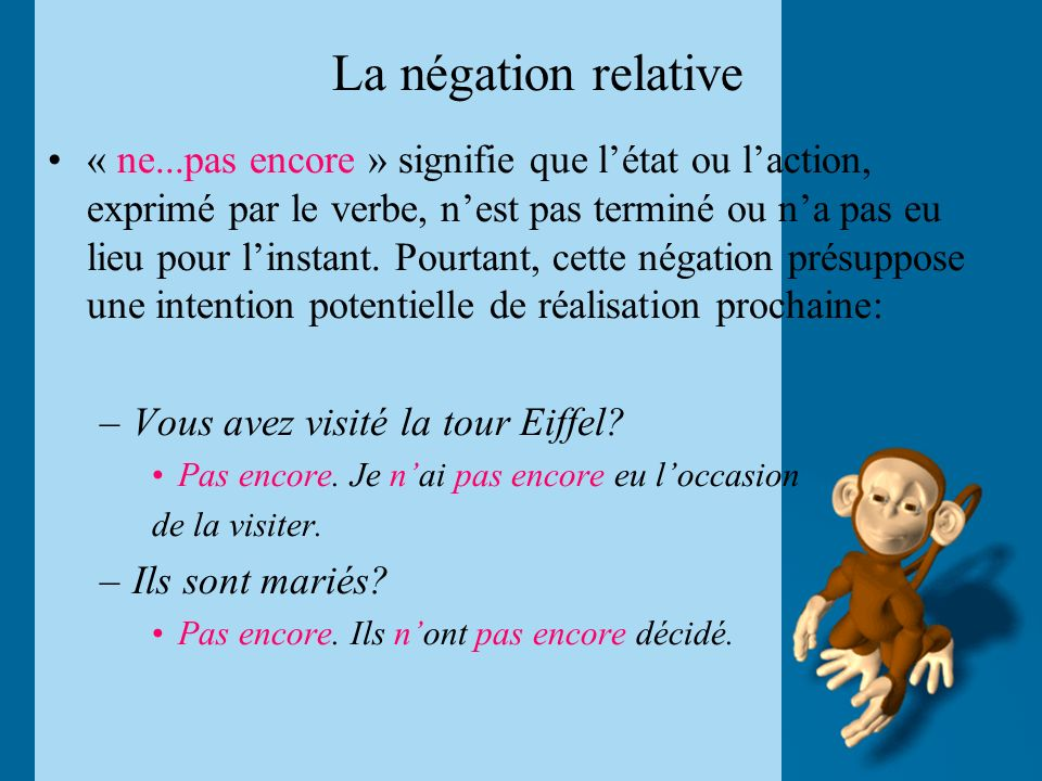 La négation relative