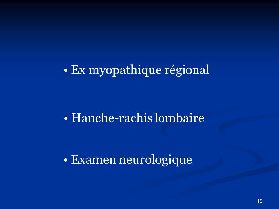 Ex myopathique régional