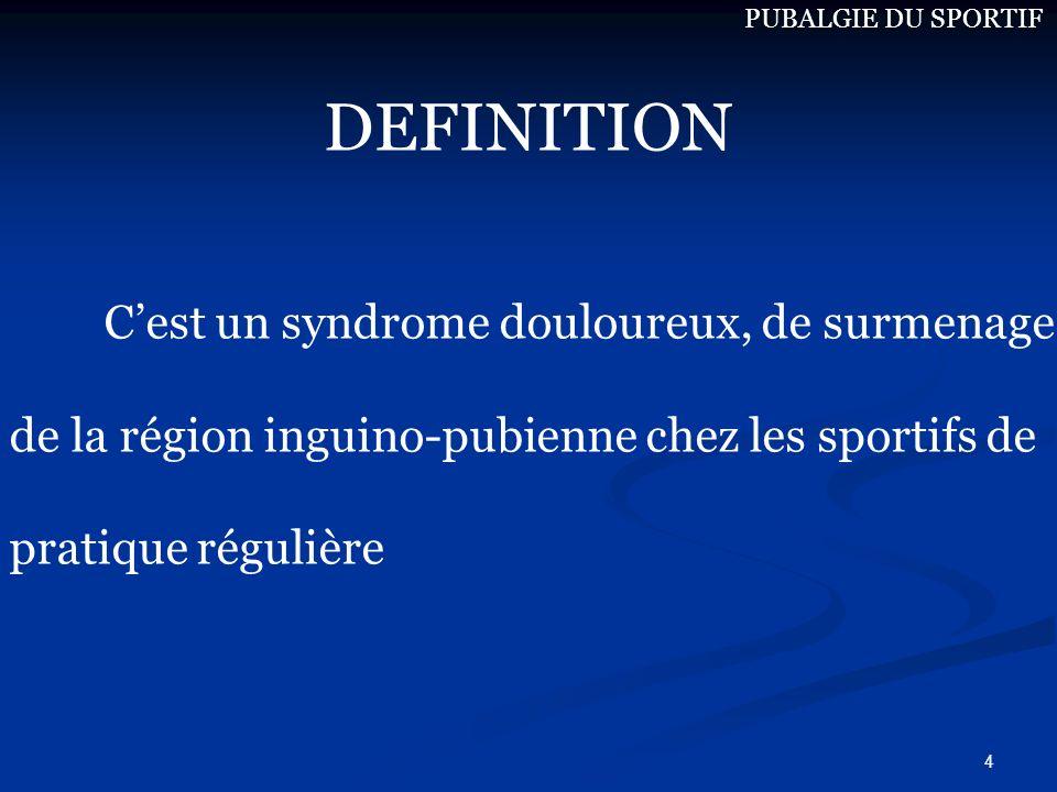 DEFINITION C'est un syndrome douloureux, de surmenage
