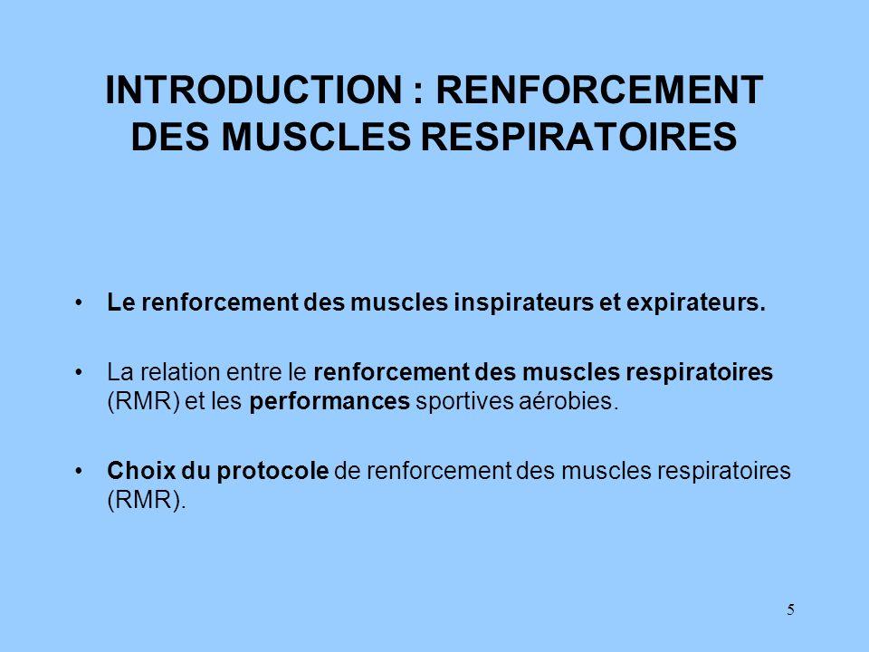 INTRODUCTION : RENFORCEMENT DES MUSCLES RESPIRATOIRES
