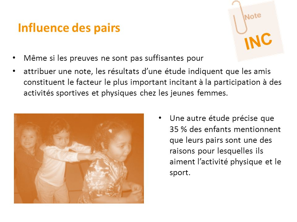INC Influence des pairs